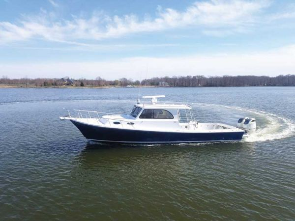 A Judge Yachts Chesapeake 36 on the Choptank River near Denton, MD.
