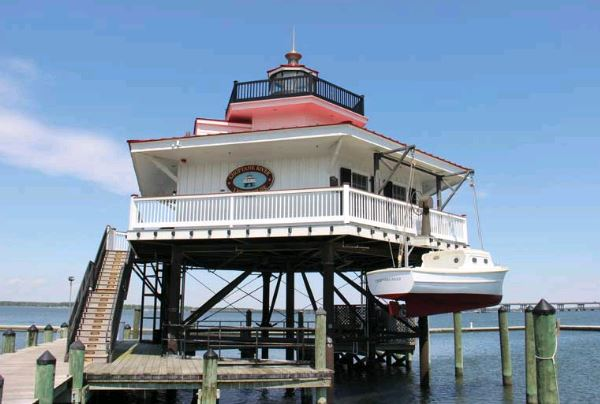 The replica Choptank River Lighthouse was completed in 2012. Photo by PropTalk