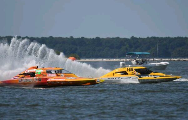 There are two big powerboat regattas in Cambridge every year. Photo by Don Wagner at last year's Thunder on the Choptank