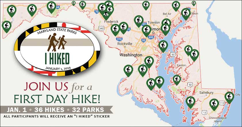 Kick off the New Year with a First Day Hike! Courtesy MD DNR