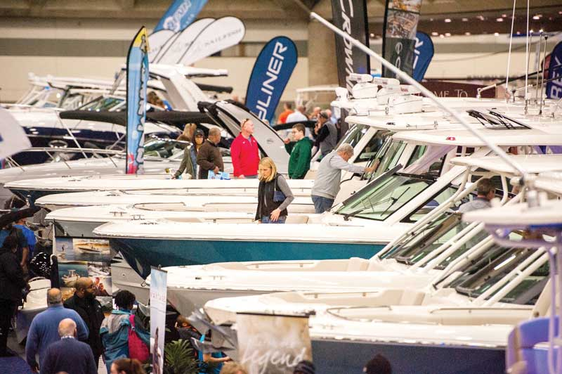 Head indoors to one of the many local boat shows to find the best prices of the year. Photo courtesy NMMA/Baltimore Boat Show