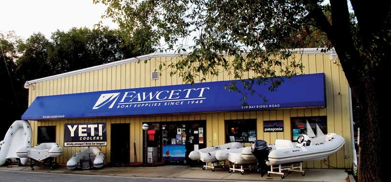 Fawcett's current location at 919 Bay Ridge Avenue is close to Annapolis's largest marinas and boatyards.
