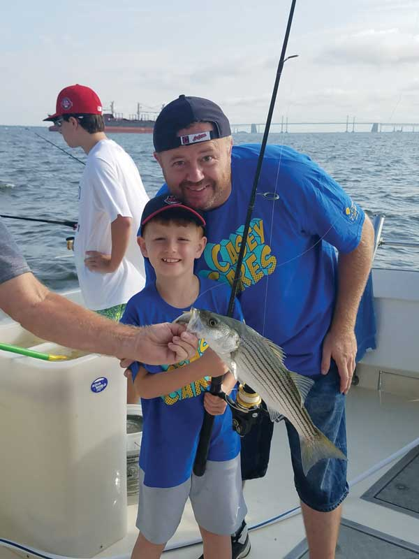 Liam and James were able to take a charter fishing trip on Southern Belle Charters. Photos courtesy Casey Cares