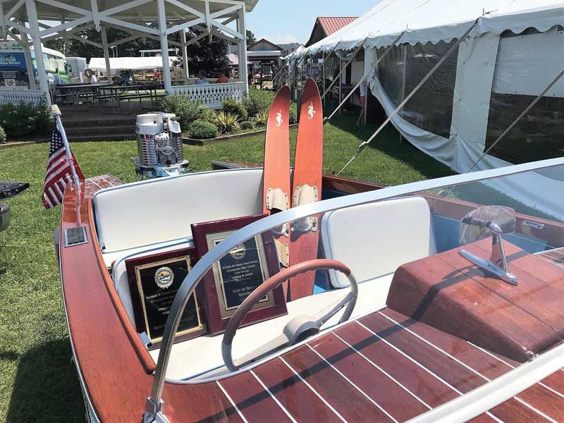 George Hazzard's Wooden Boat Restoration 1958 Sears kit boat restoration won Best Outboard and Best in Show at the 2018 Antique and Classic Boat Festival.