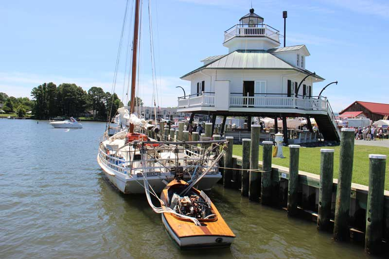 Check out CBMM's floating fleet, and don't miss the re-launch of the Edna Lockwood during OysterFest.