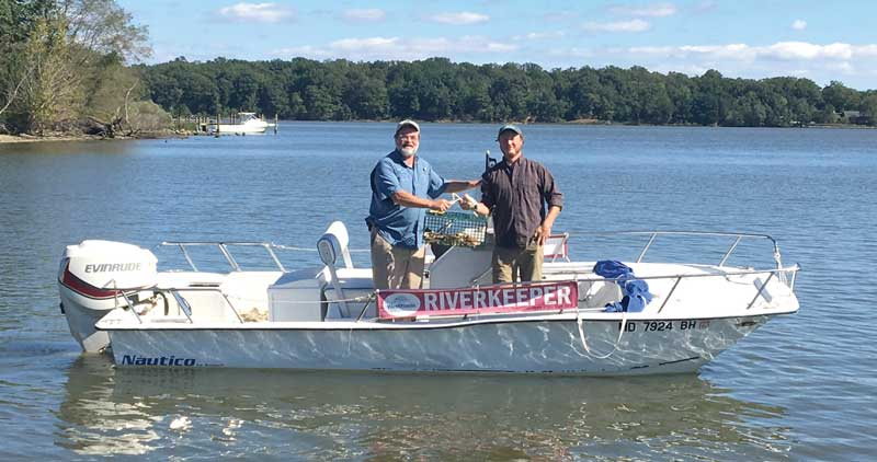West/Rhode Riverkeeper Jeff Holland and South Riverkeeper Jesse Iliff will work together in the new Arundel Rivers.