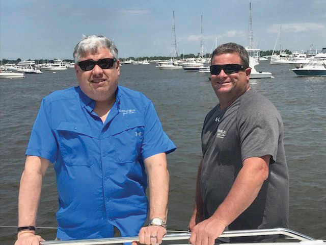 Rob Taishoff and Chris Humphreys, current owners of Annapolis Yacht Sales.