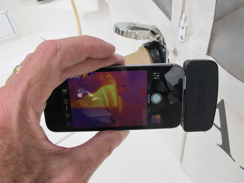 A thermal imaging attachment for a smart phone.