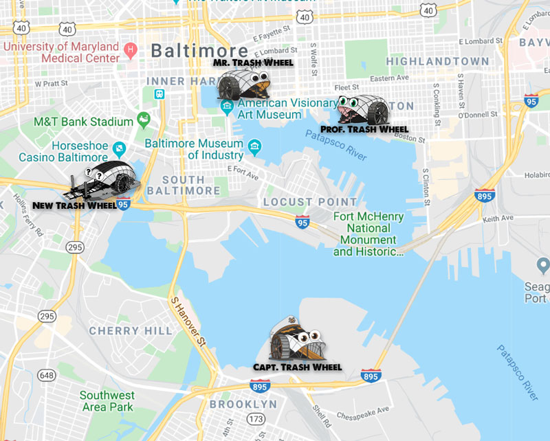 Baltimore's fourth trash wheel
