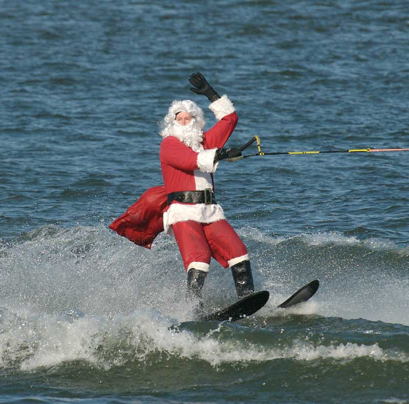 Photo courtesy of Waterskiiing Santa