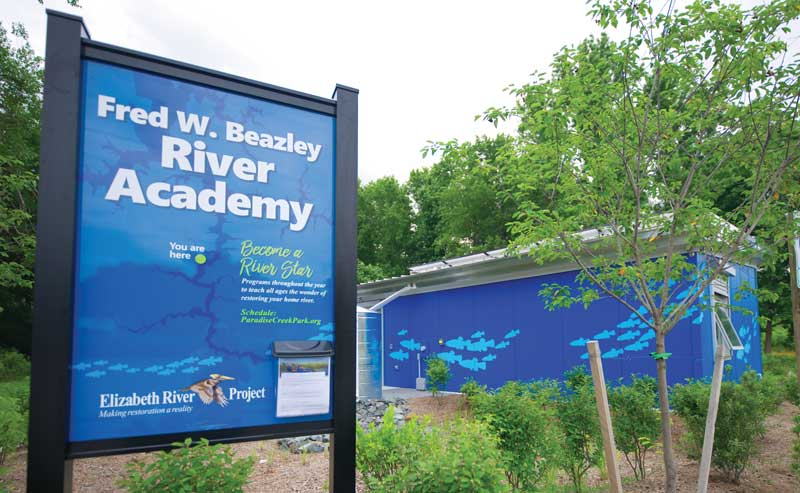 The Fred W. Beazley River Academy is a great facility that will teach you about the local environment.