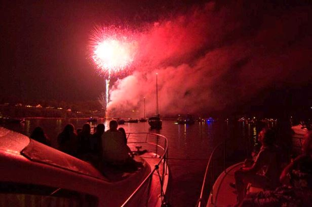 Fireworks on the Chesapeake are always a great time, whether spectating from land or from the water. Photo by Lexi Pline