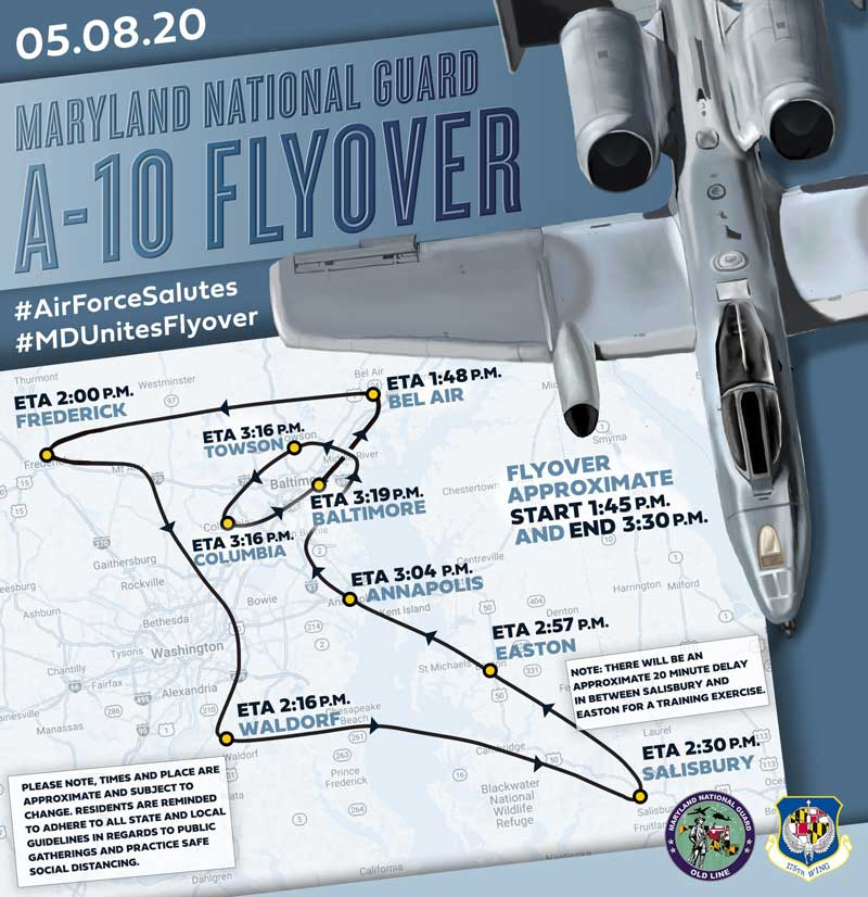Maryland National Guard A-10 flyover