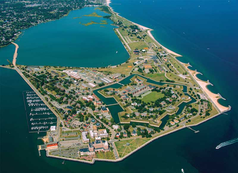 Fort Monroe National Monument encompasses nearly 600 acres. Courtesy NPS