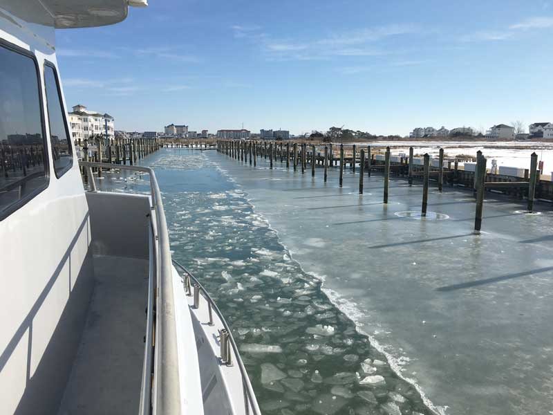 Wind and waves can make fishing in smaller boats dangerous. That leaves charter and head boats. Photo courtesy of Capt. Monty Hawkins on Morning Star out of Ocean City
