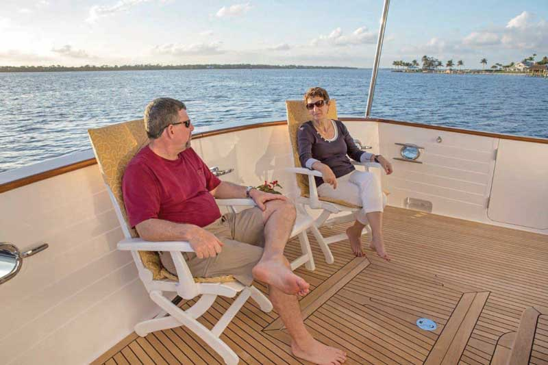 Their boat is so comfortable, Larry and Janet are considering selling their home and living aboard.