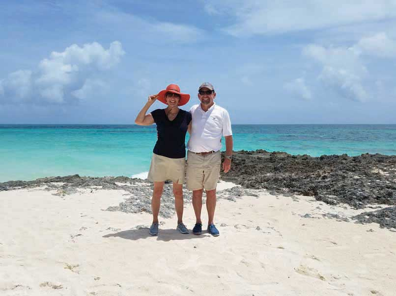 The couple dreamed of cruising to the Bahamas.
