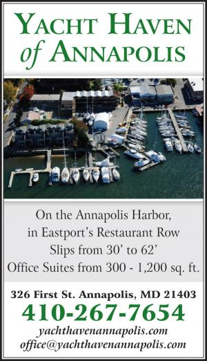Yacht Haven of Annapolis is located on the harbour in downtown Annapolis, Maryland consisting of 51 slips, a full service boat yard, and a commercial office space.