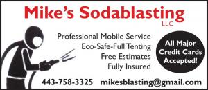 Mikes Sodablasting provides quick, thorough mobile and in-house services. Bottom Paint removal serving marine, automotive, commercial, and residential customers throughout MD, DE, VA, and DC