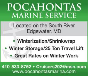 Pocahontas Marine Service is a full service marina and service yard located on the South river in Edgewater, MD.