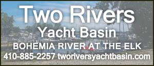 Two Rivers Yacht Basin is located in Chesapeake City, Maryland has boat slips now available, marina amenities, boat yard services, and fuel dock.