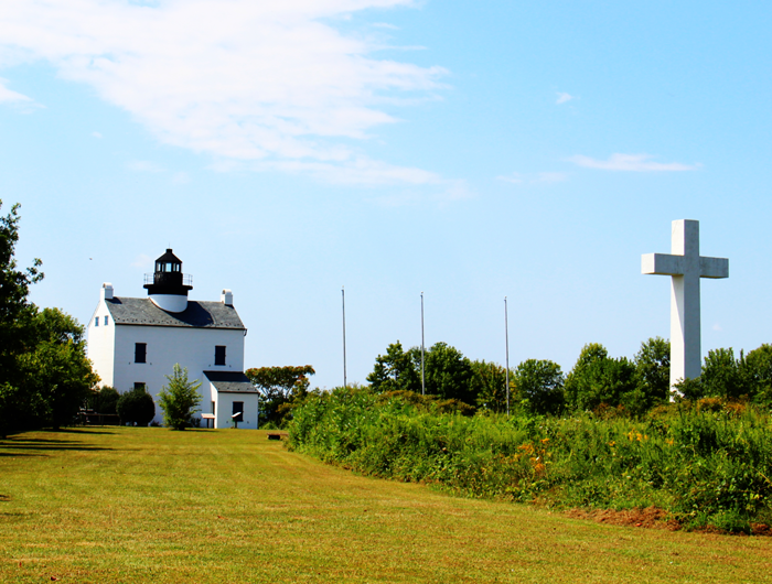 Blackistone Lighthouse on St. Clement's Island.