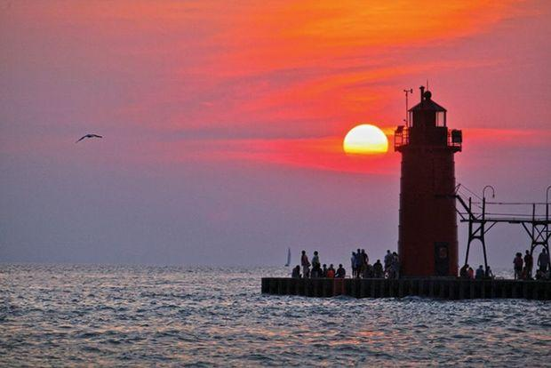 Luddington Lighthouse on Lake Michigan. Photo by Phillip Kent Barbalace