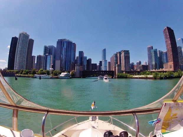 Entering the Chicago River. Photo by Phillip Kent Barbalace