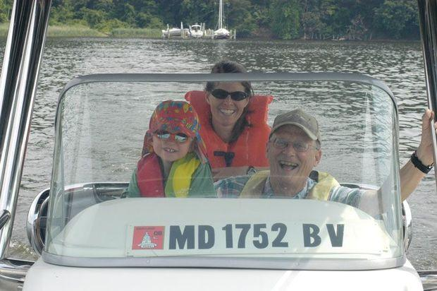 You can tell by the smile on Charlie Iliff's face how much he enjoys boating with grandkids!