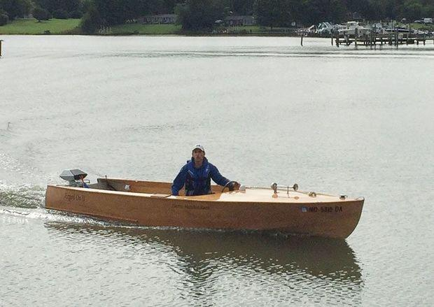 Ned Farinholt's home-built boat was specifically designed for the race.