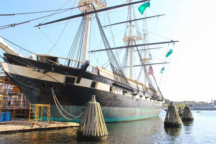 The USS Constellation is docked at Baltimore's Inner Harbor on Pier 1. Get tickets through Historic Ships of Baltimore