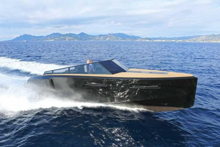 Aside from its unique transforming appeal, the Evo 43 is interesting as a Euro-styled day boat. Photos courtesy of Evo Yachts