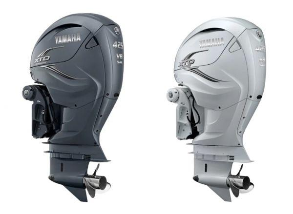 This is Yamaha's largest outboard engine ever, delivering massive power for 50-foot-plus boats. Courtesy Yamaha