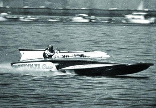 Miss Chrysler Crew Unlimited Hydroplane built by Henry Lauterbach.
