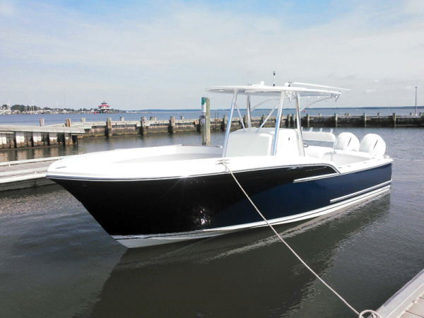 The CY26, or Composite 26, built by Composite Yacht in Cambridge, MD, can be designed to accept outboard or inboard power. Photo by Chris D. Dollar