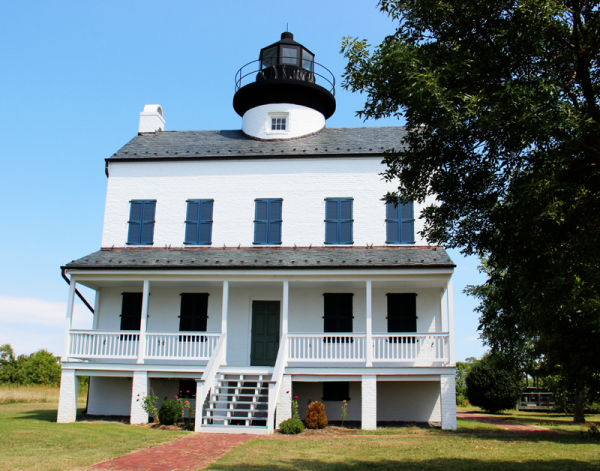The replica Blackistone Lighthouse was completed in 2008.