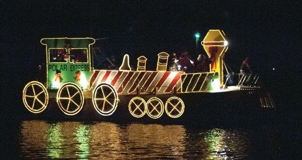 Each town may have their own variations, but the theme of merriment stays the same. Photo courtesy of the Solomons Lighted Boat Parade